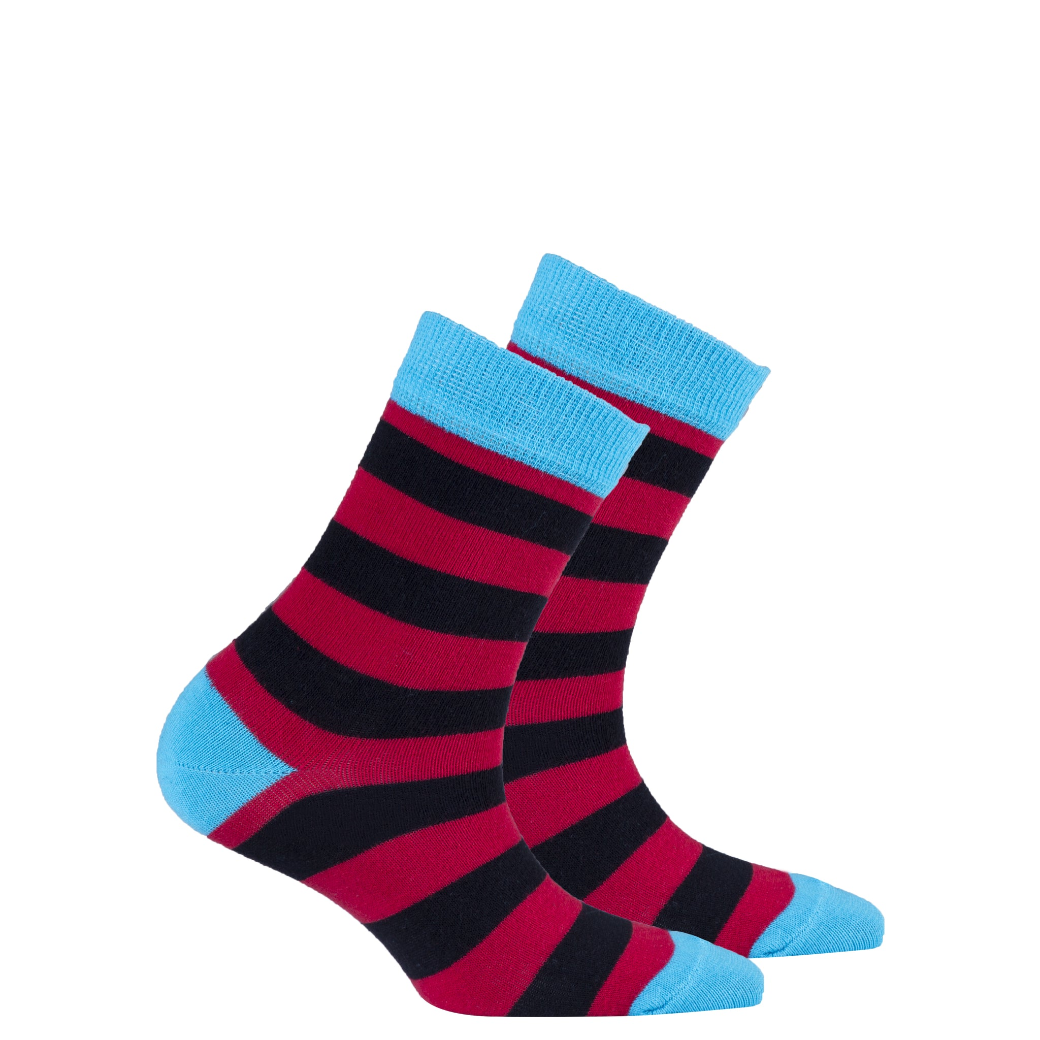 Kids Red Sky Stripe Socks