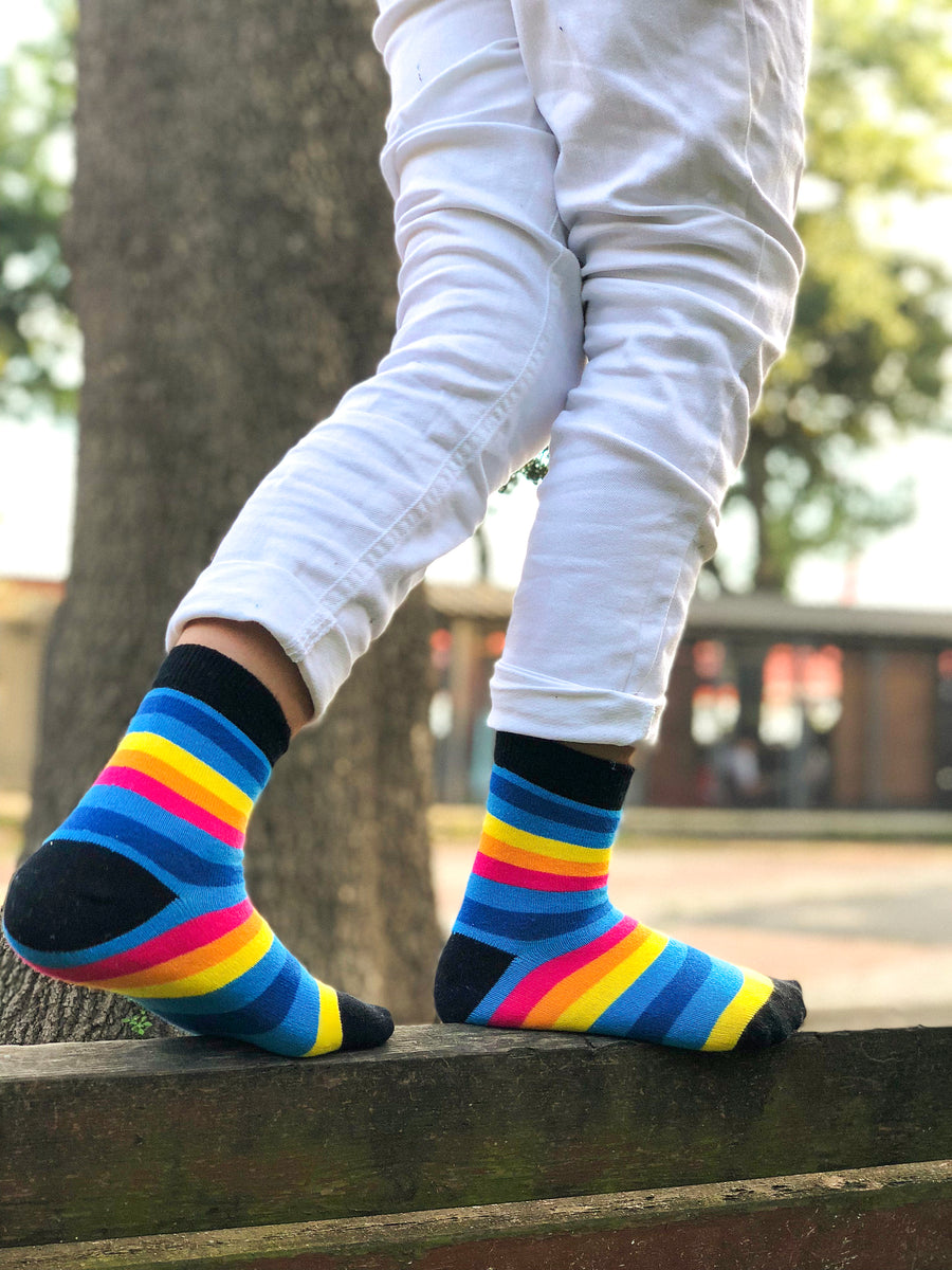 Kids Rainbow Stripe Socks