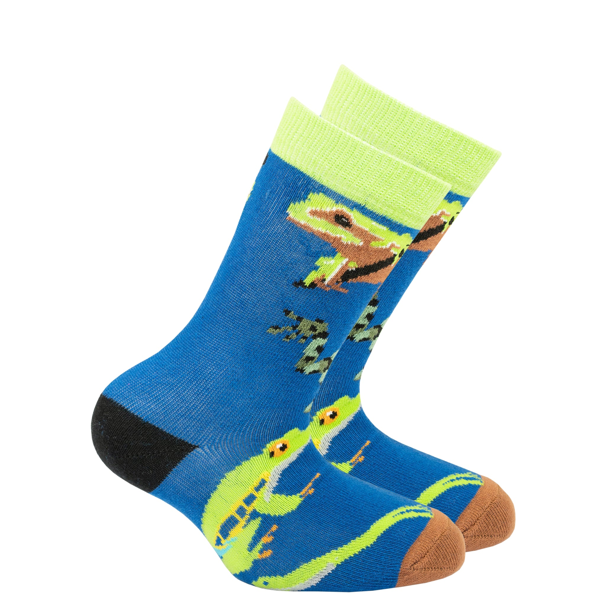 Kids Frog Socks grey and navy