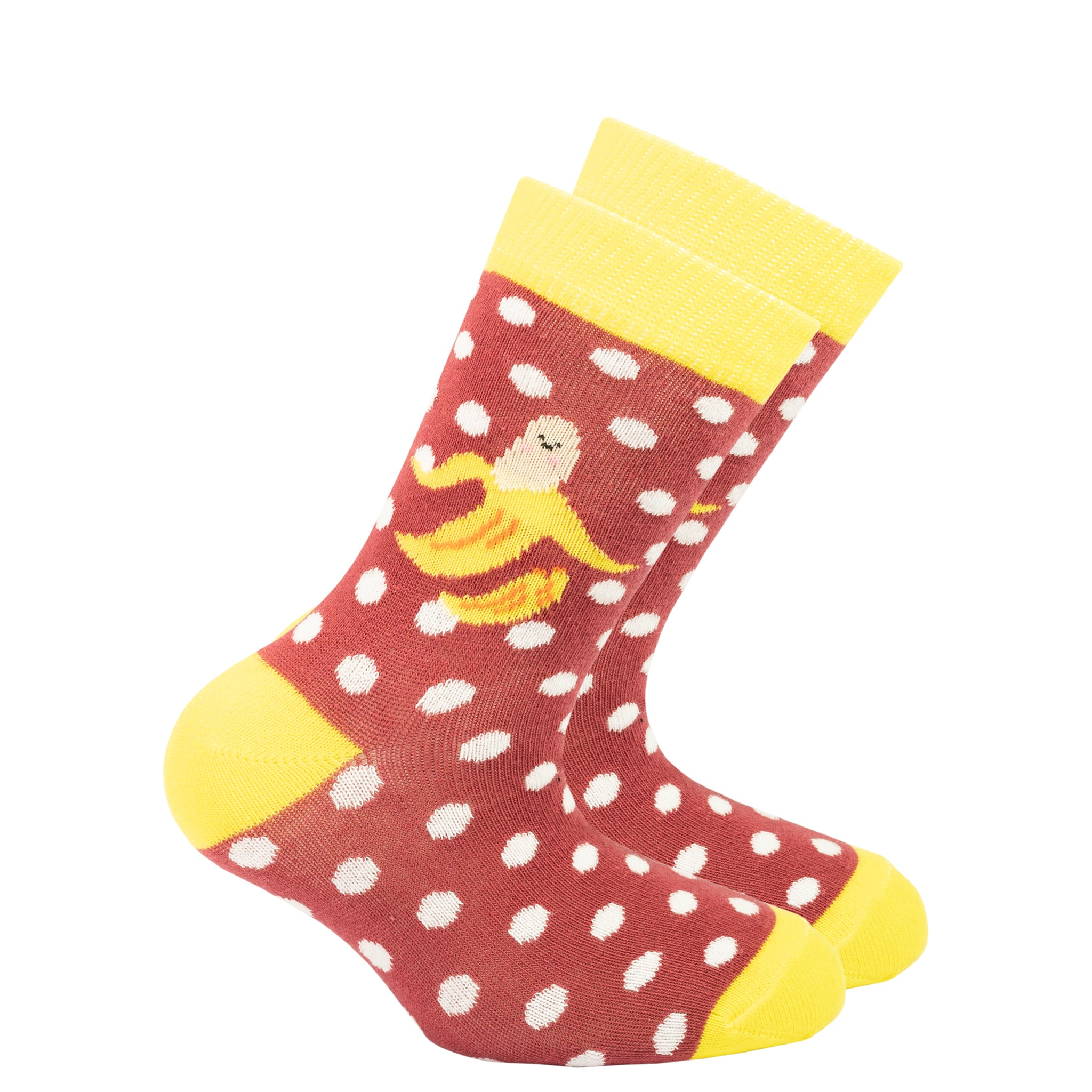 Kids Banana Dot Socks