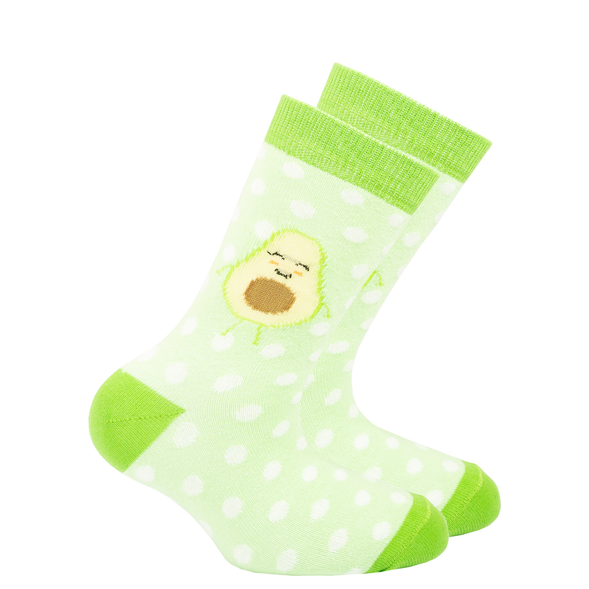 Kids Avocado Dot Socks green
