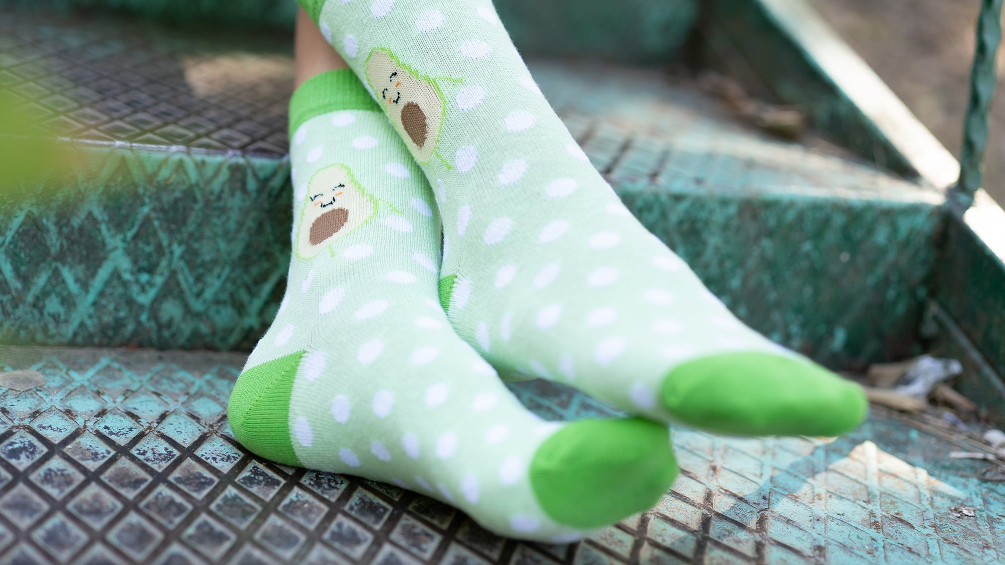 Kids Avocado Dot Socks