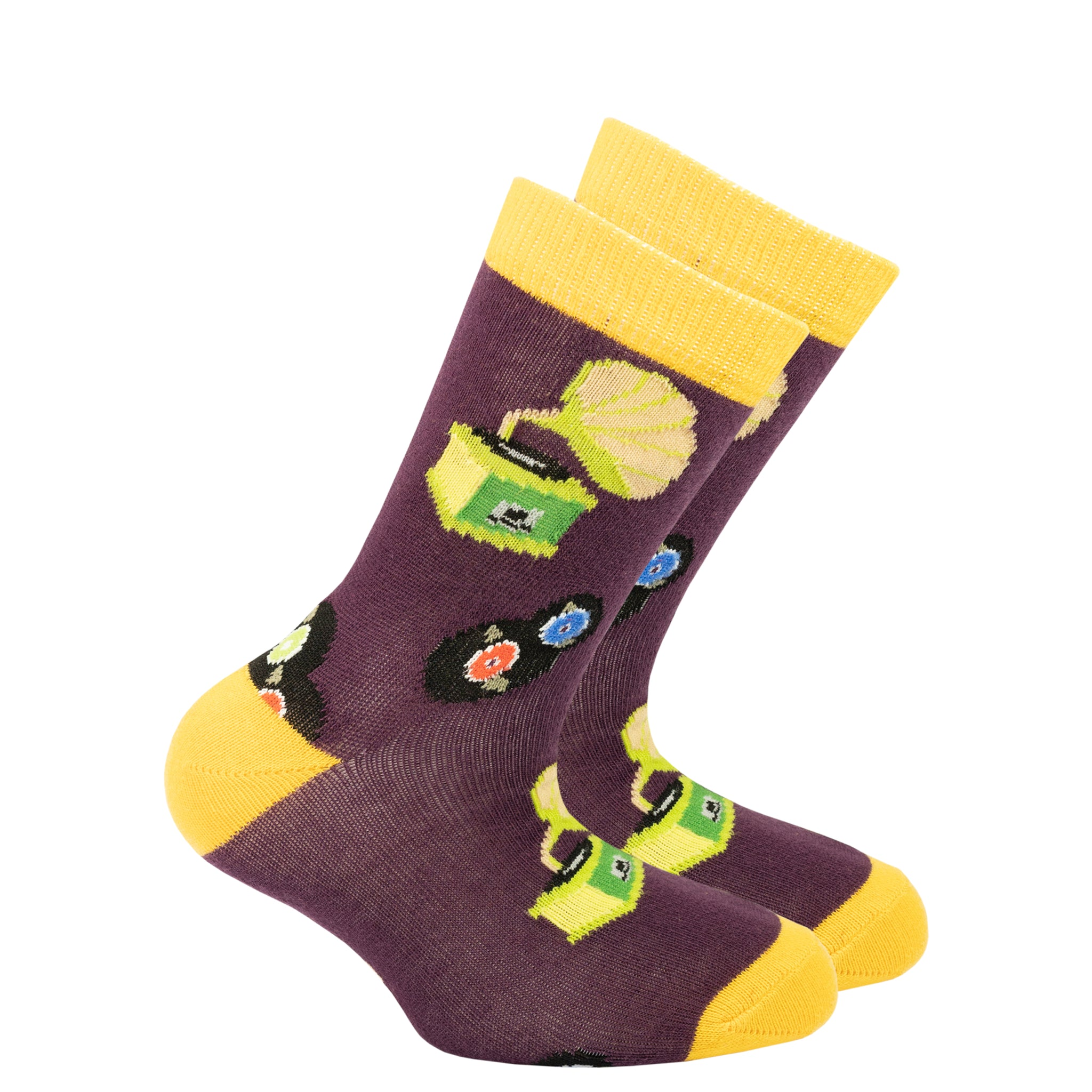 Kids Gramophone Socks yellow