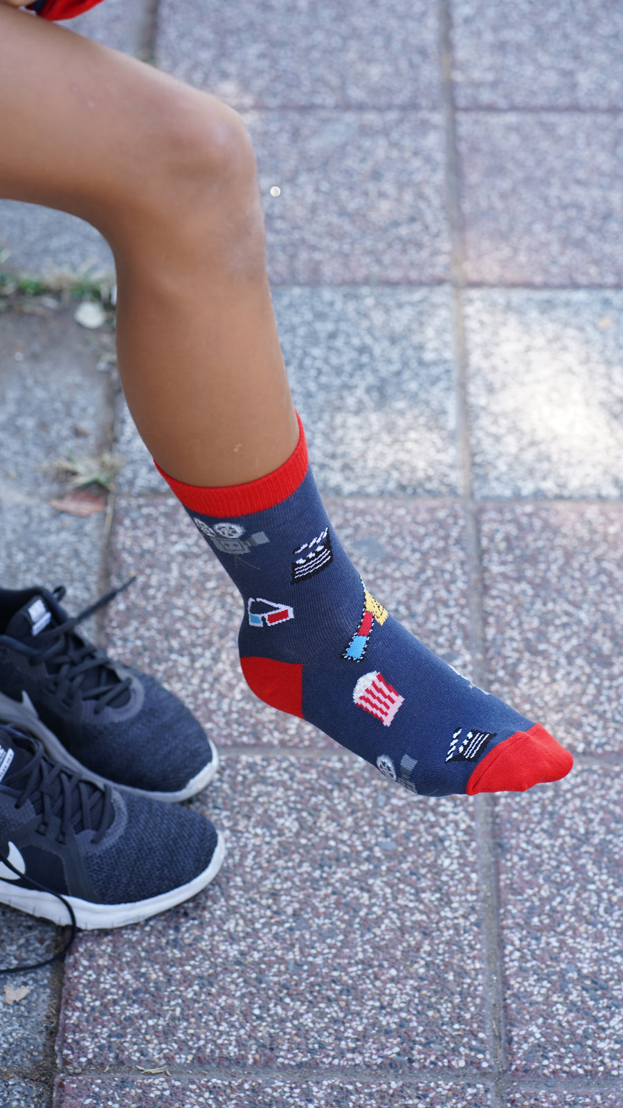 Kids Cinema Socks red and navy
