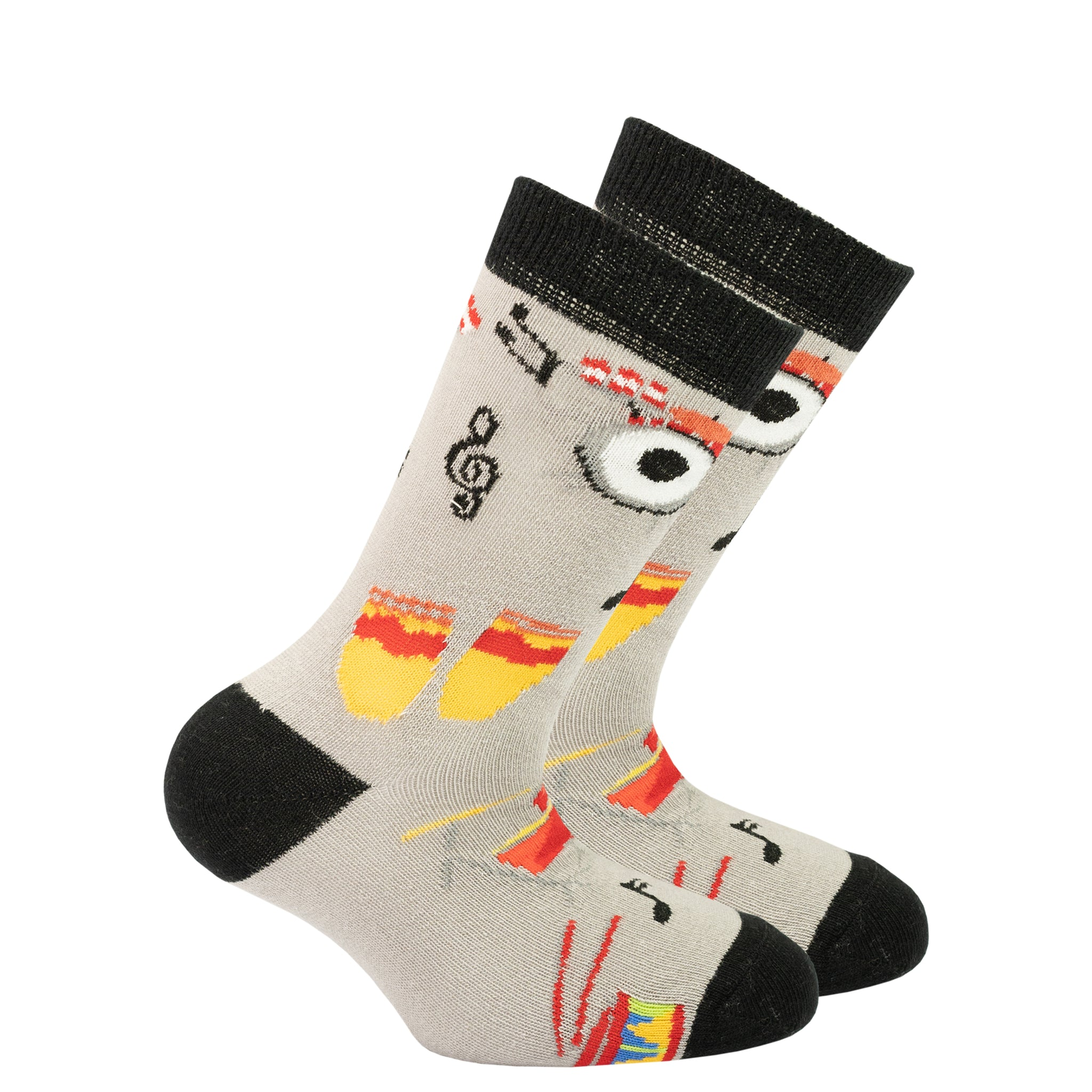 Kids Drums Socks black and grey