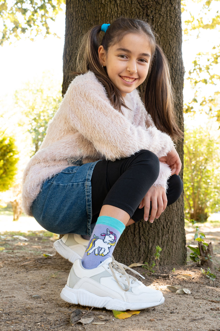 Kids Unicorn Socks blue and purple