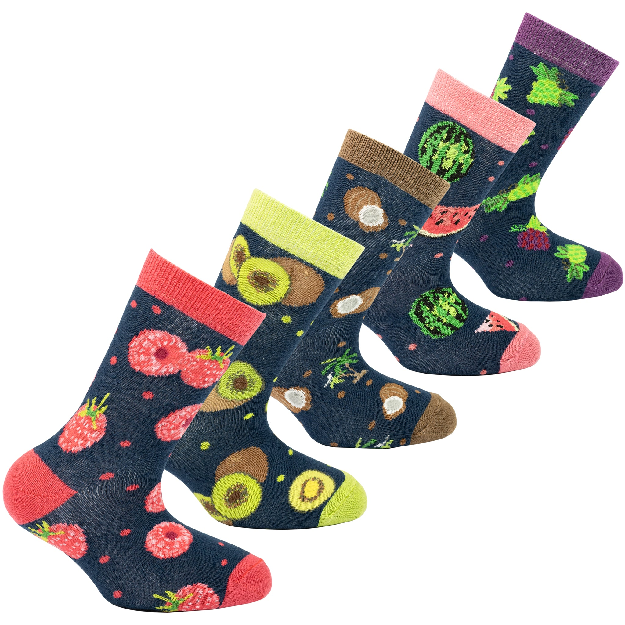 Kids Juicy Fruits Socks colorful