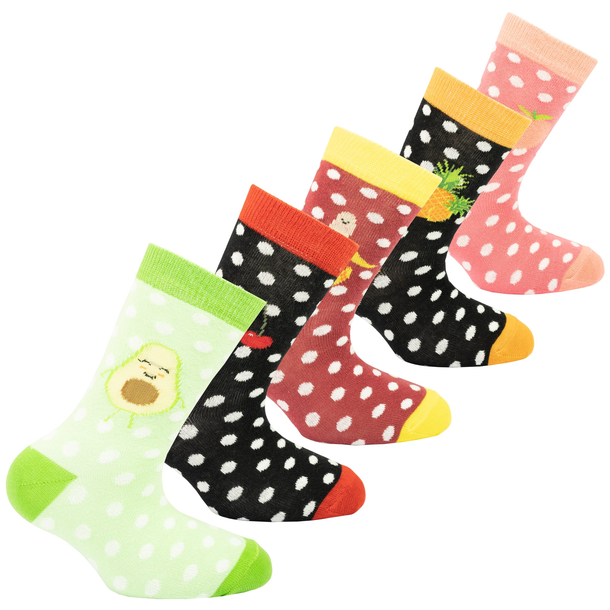 Kids Delightful Fruits Socks colorful