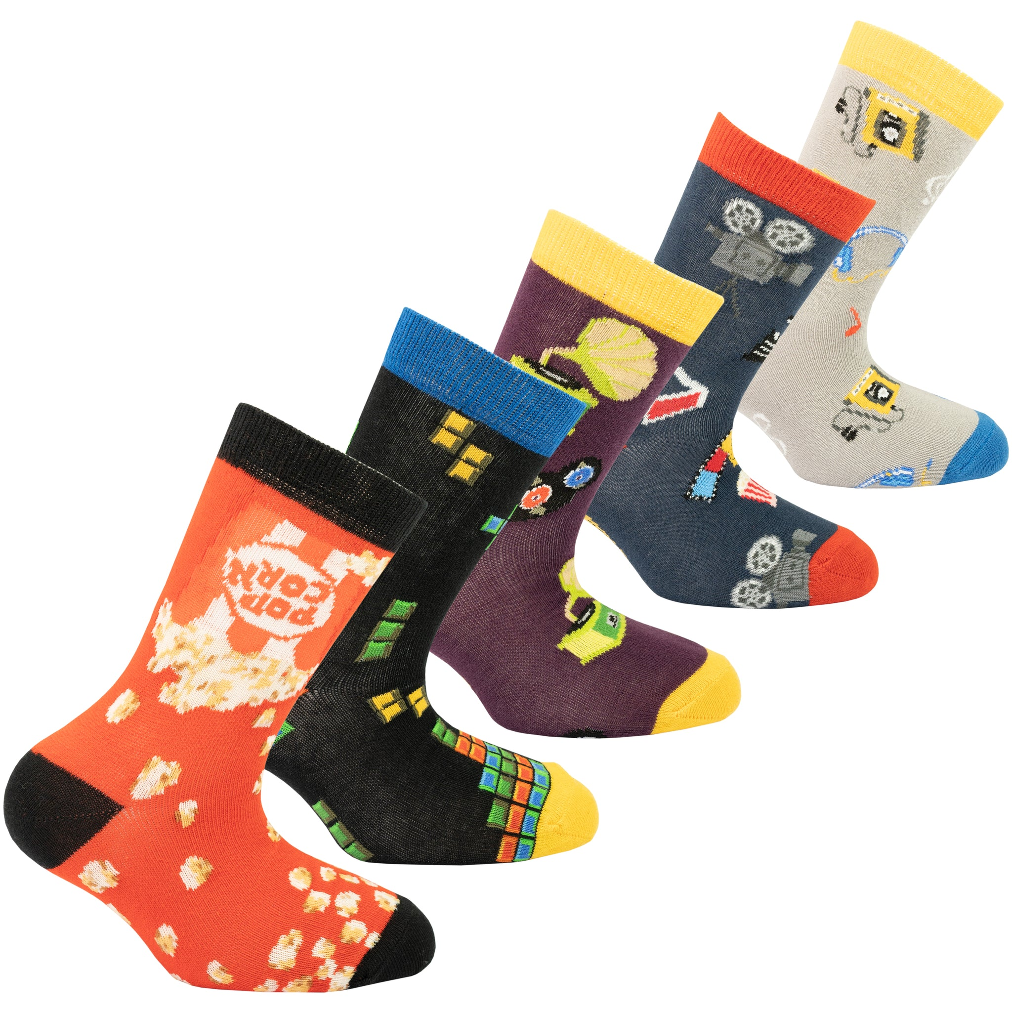 Kids Entertainment Socks 5-Pack colurful
