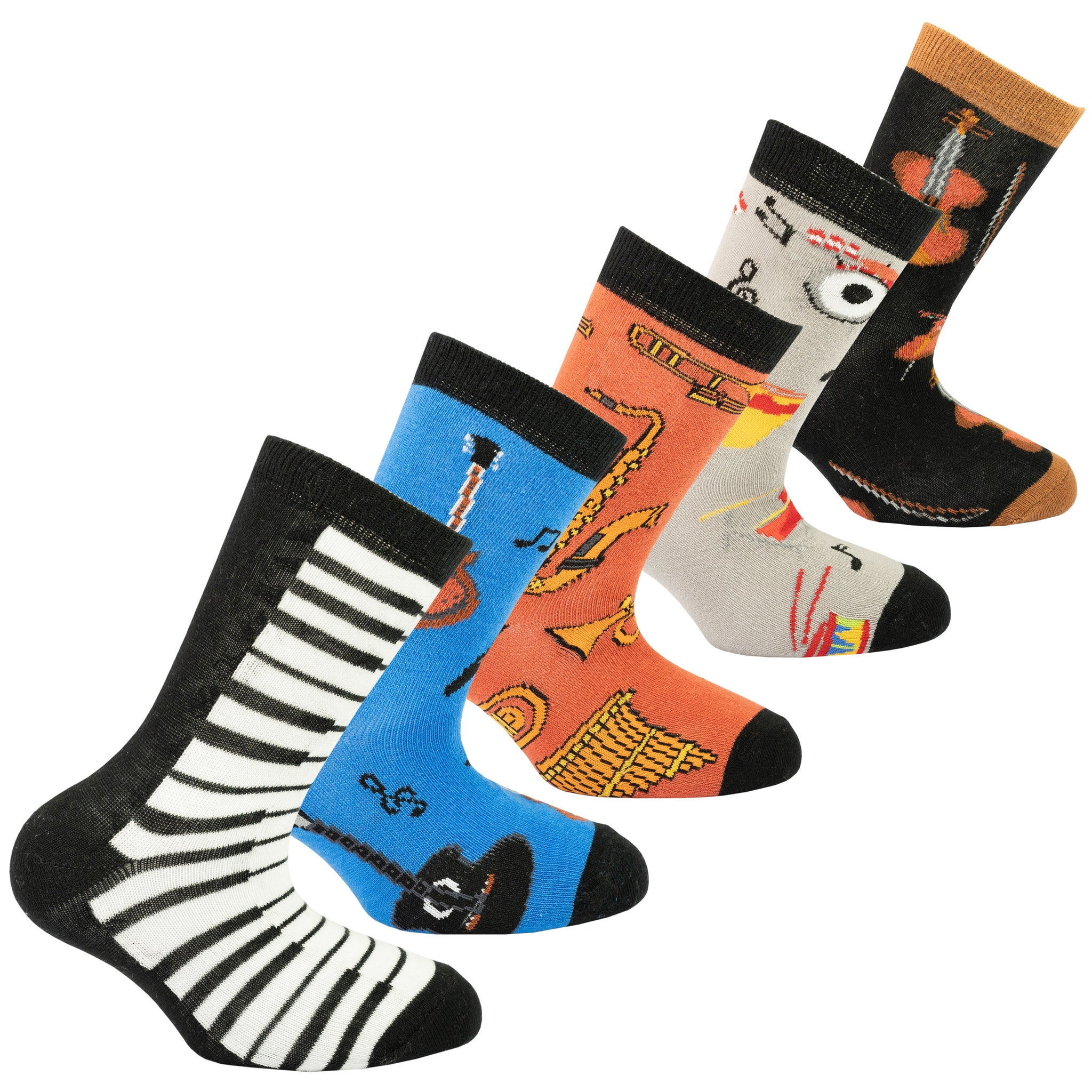 Kids Music Socks colourful