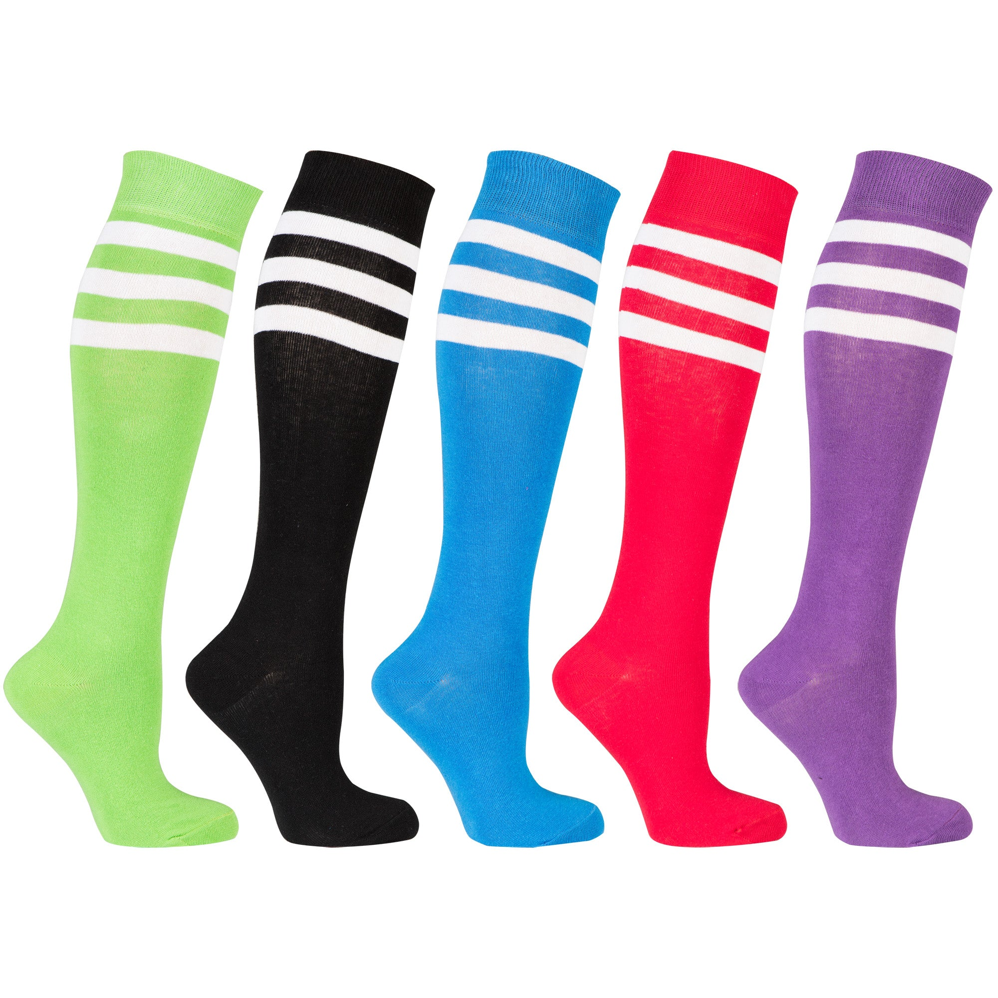 Women's Modern Stripe Knee High Socks Set