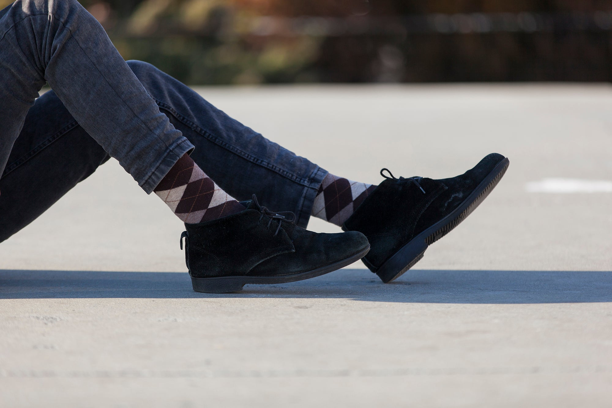 Men's Brown Argyle Socks
