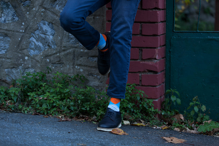 Men's Orange Peel Argyle Socks