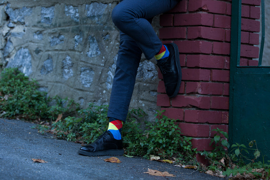 Men's Flame Argyle Socks