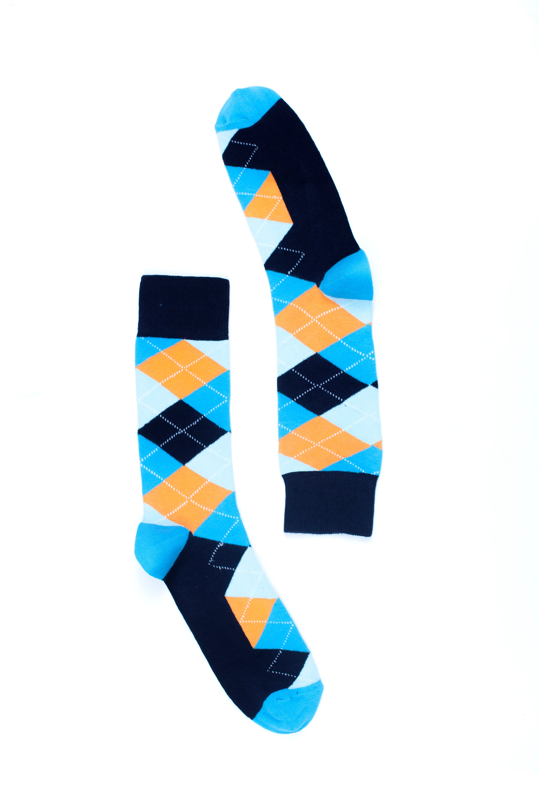 Men's Vibrant Sky Argyle Socks