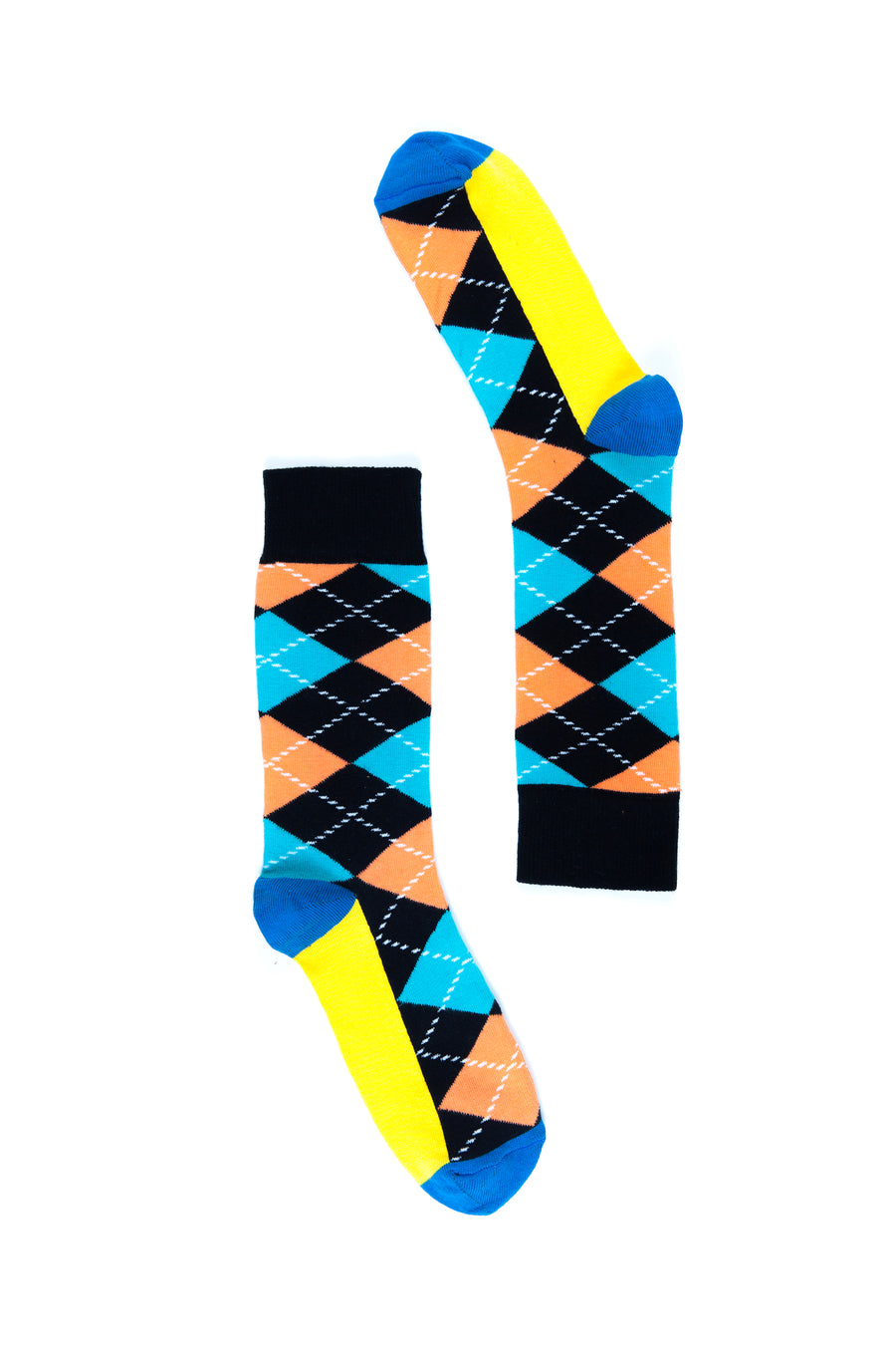 Men's Teal Argyle Socks