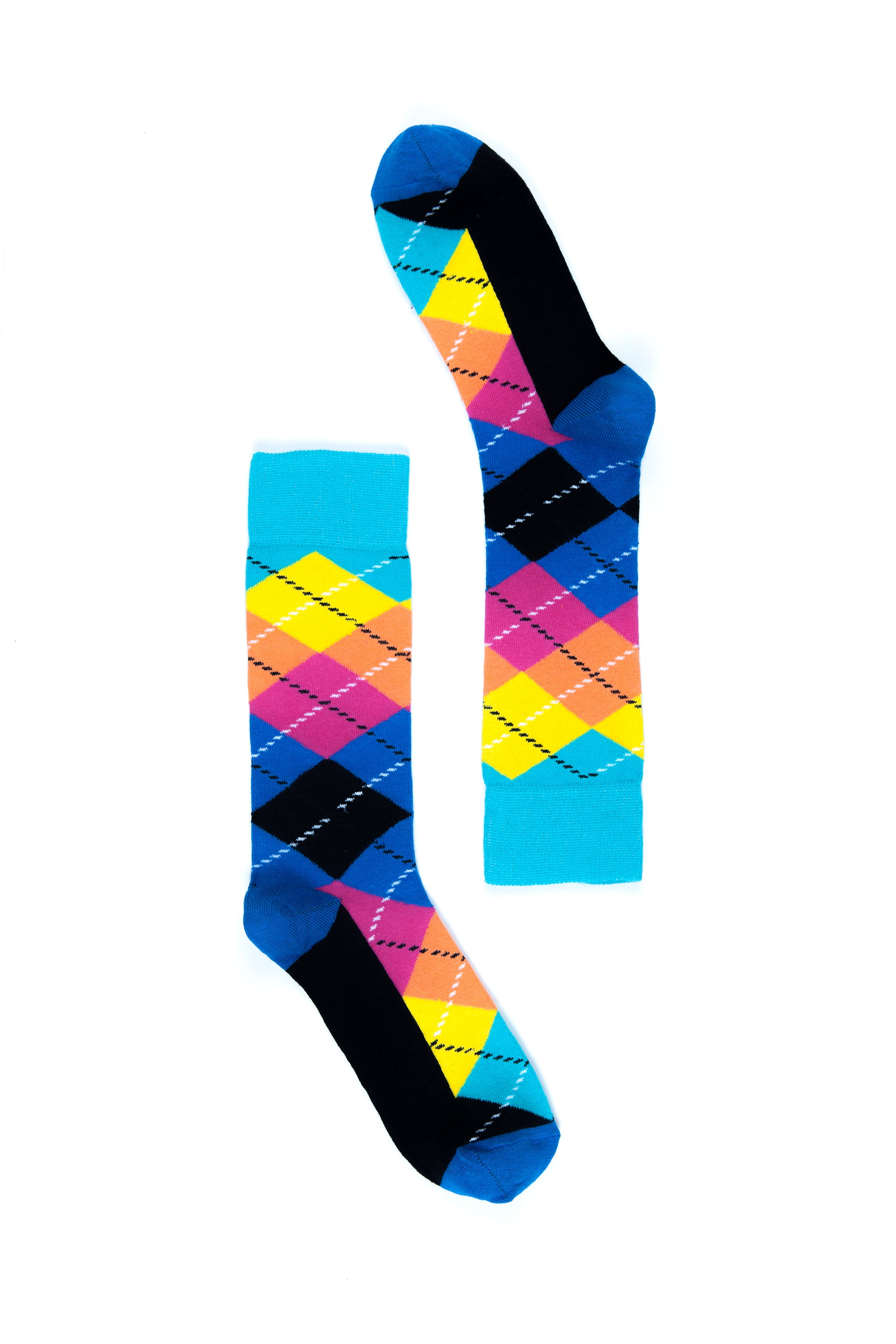 Men's Magenta Argyle Socks