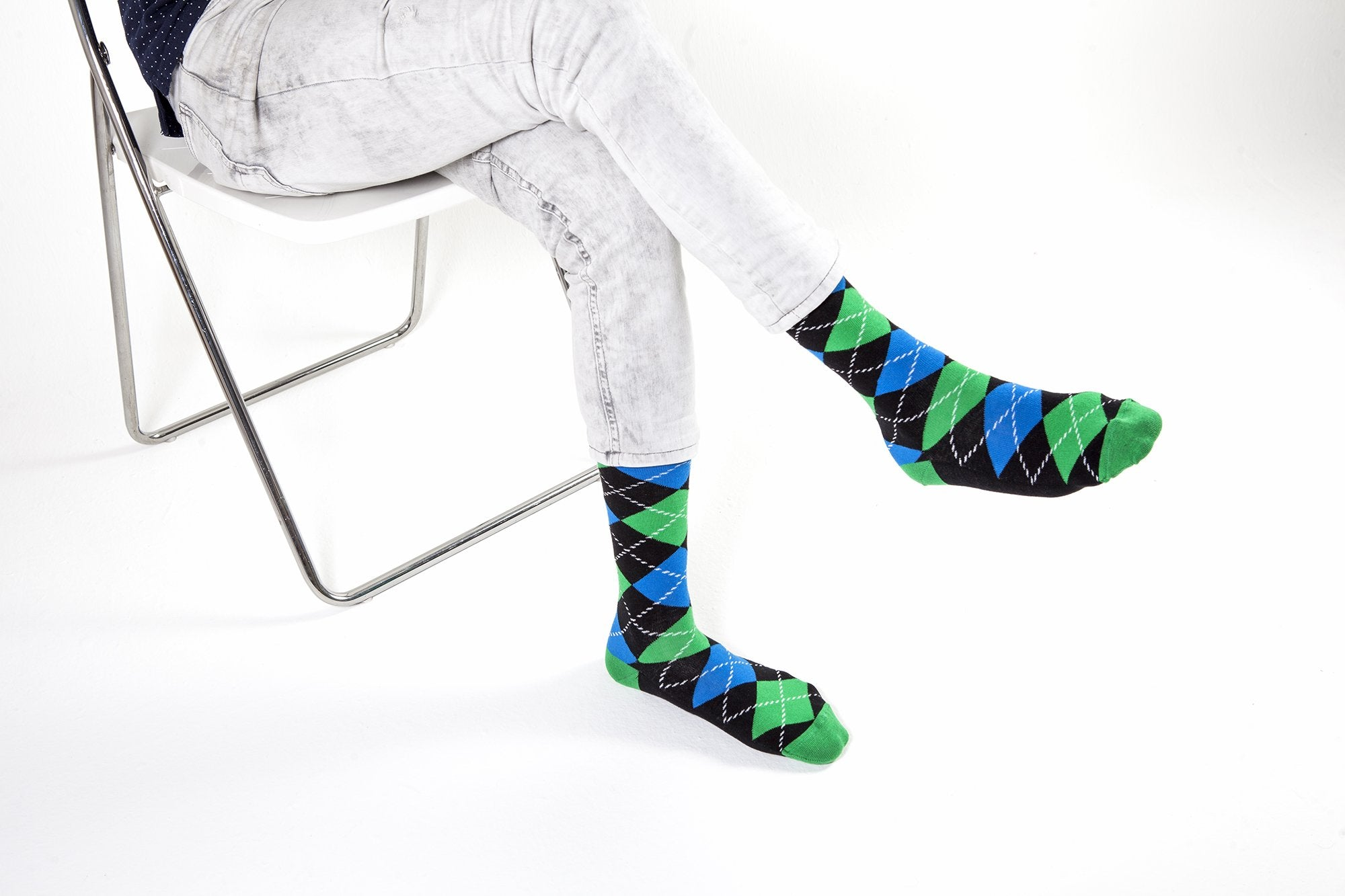 Men's Island Green Argyle Socks