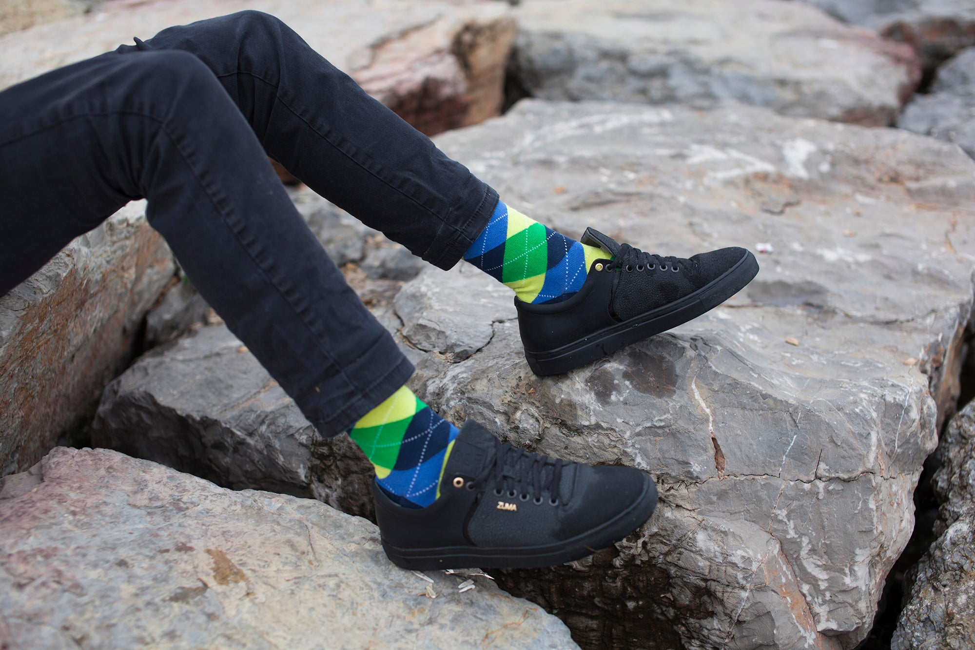 Men's Green Pineapple Argyle Socks