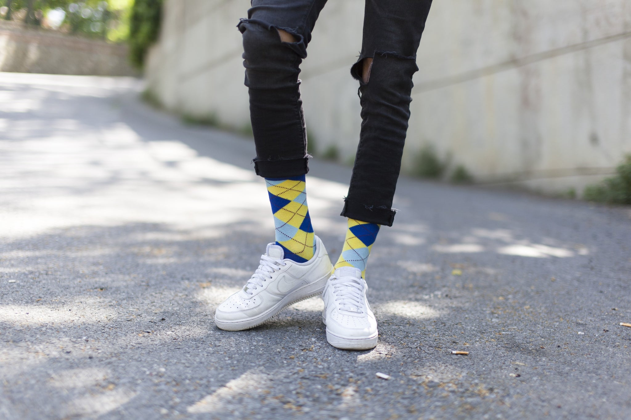 Admiral Lemon Argyle Socks