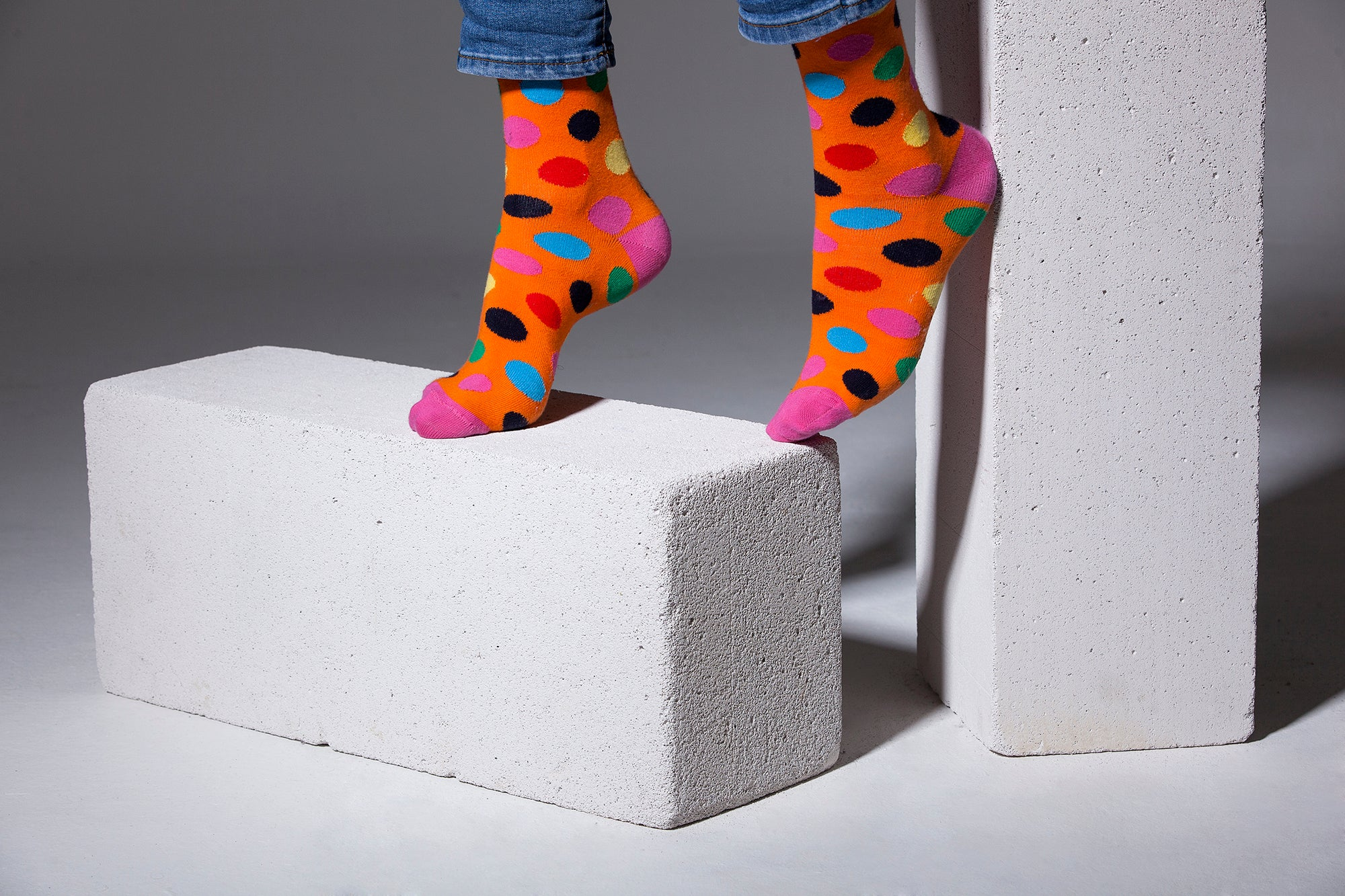 Men's Mandarin Dot Socks