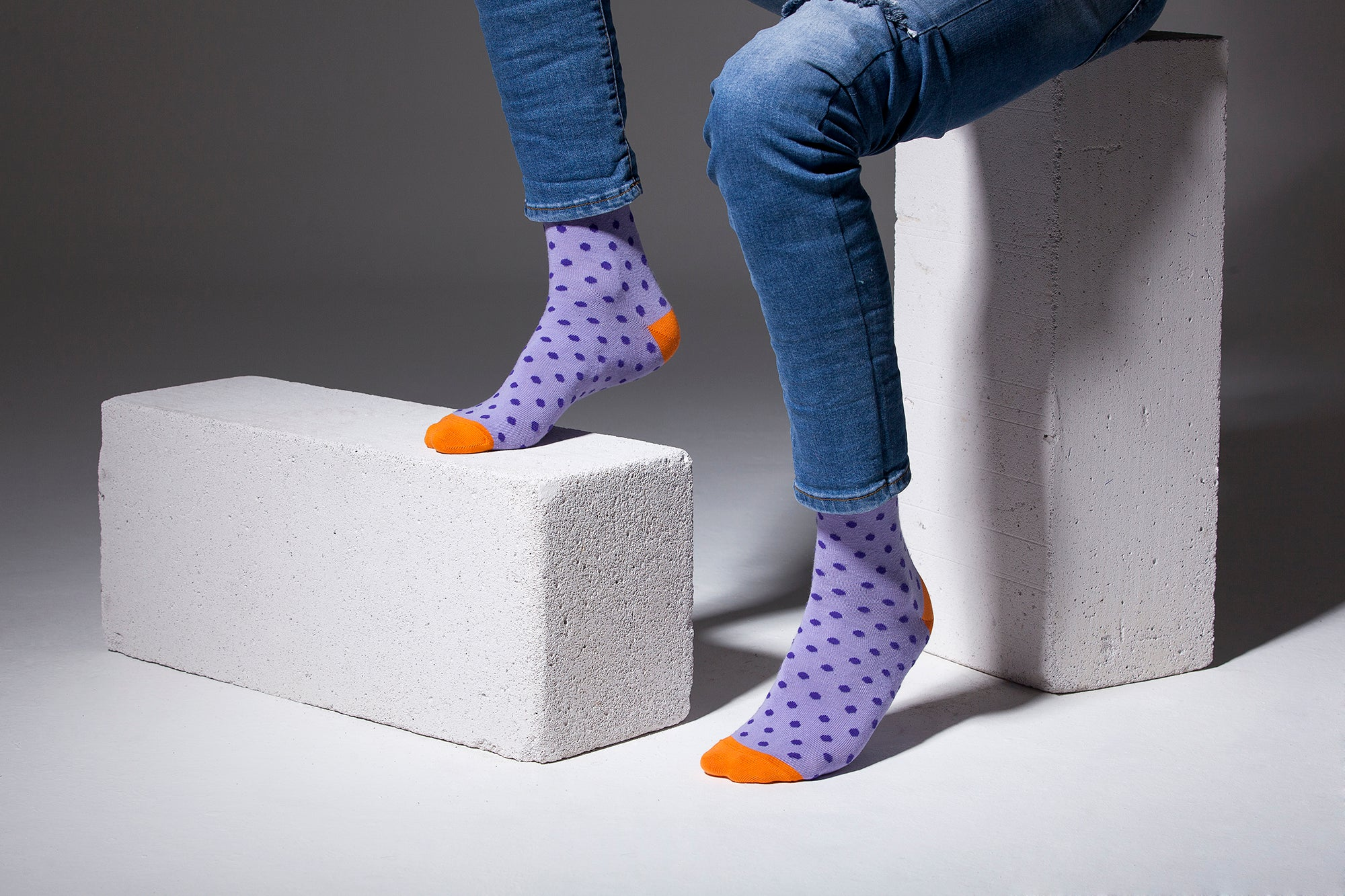 Amethyst Dot Socks