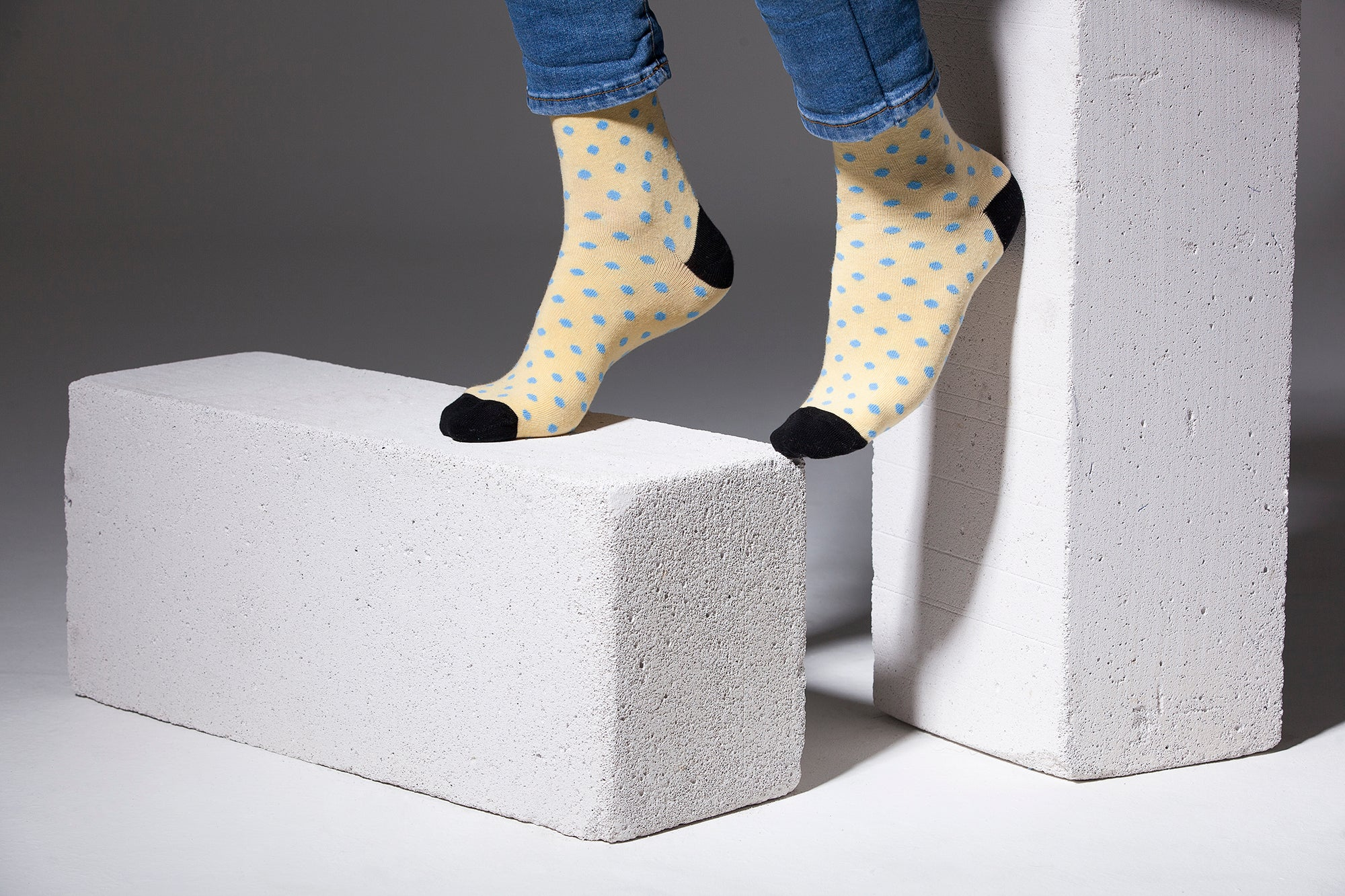 Men's Buttermilk Dot Socks