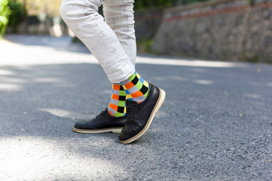 Men's Tiger Square Socks