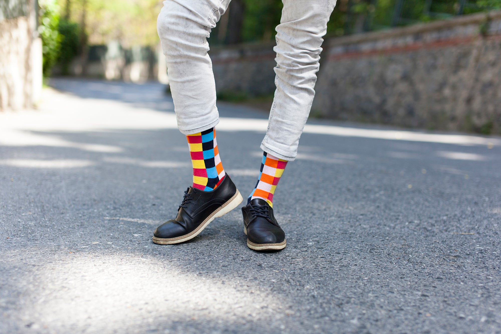 Men's Canary Square Socks