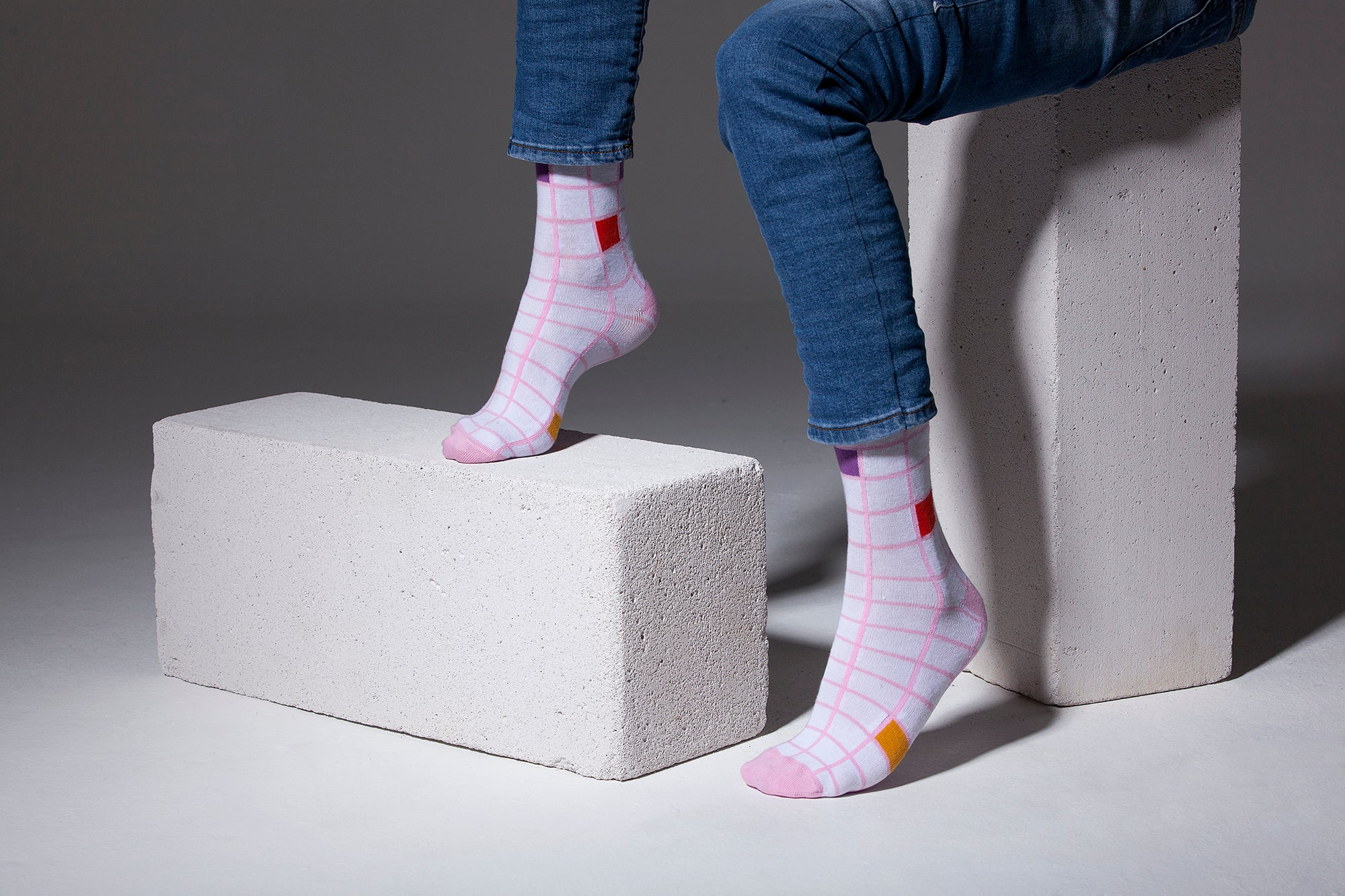 Men's Pink Square Socks