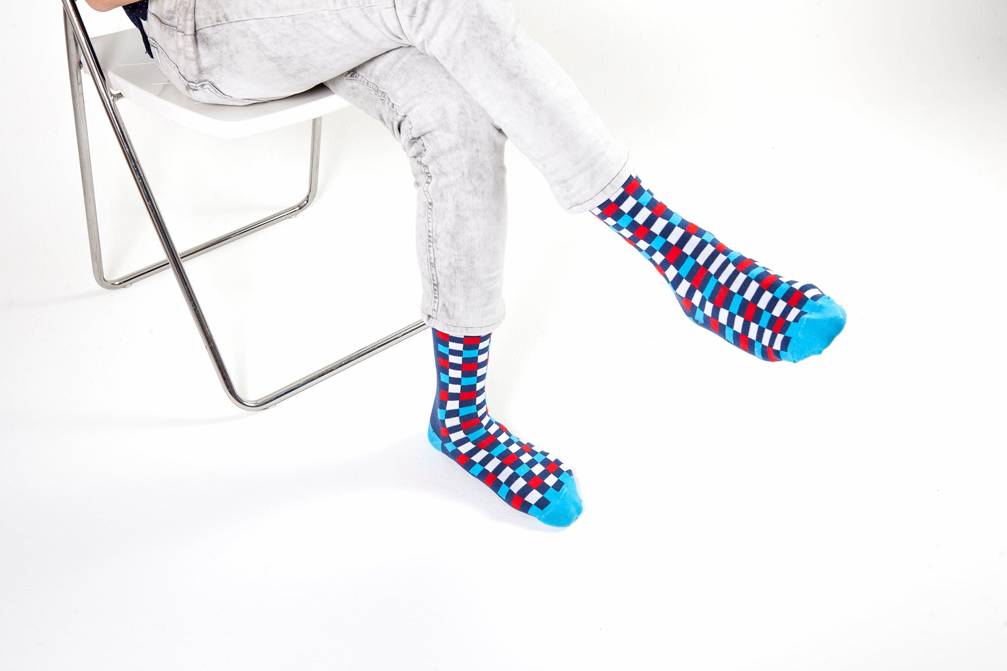 Men's Indigo Square Socks