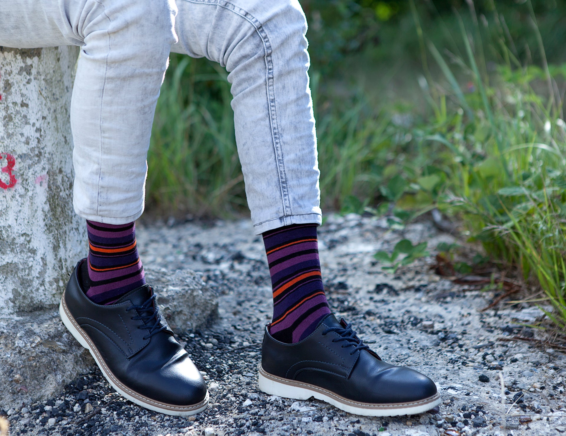 Men's Garnet Stripe Socks