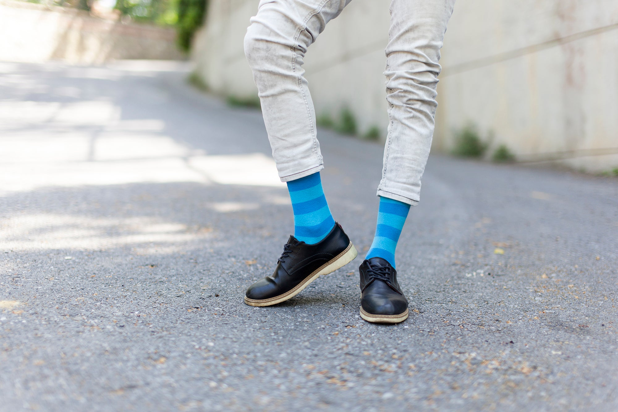 Men's Yellow Sky Stripe Socks