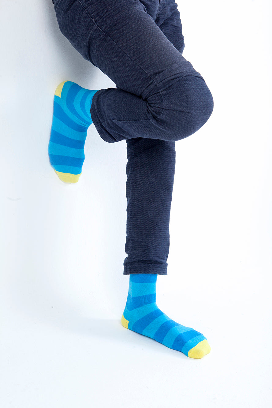 Yellow Sky Stripe Socks