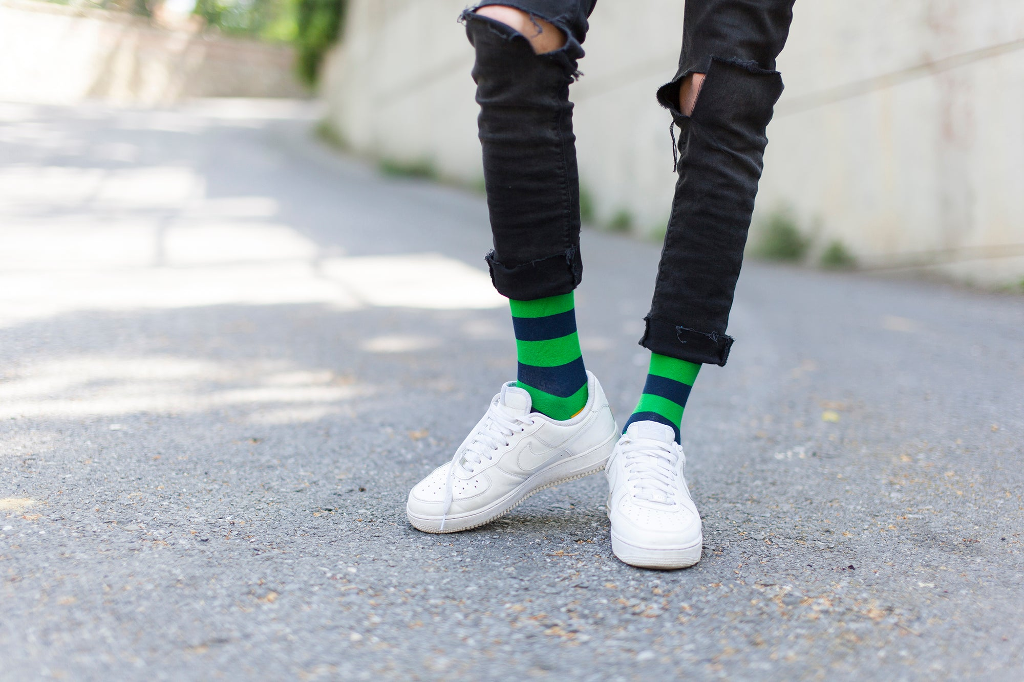 Carrot Leaf Stripe Socks