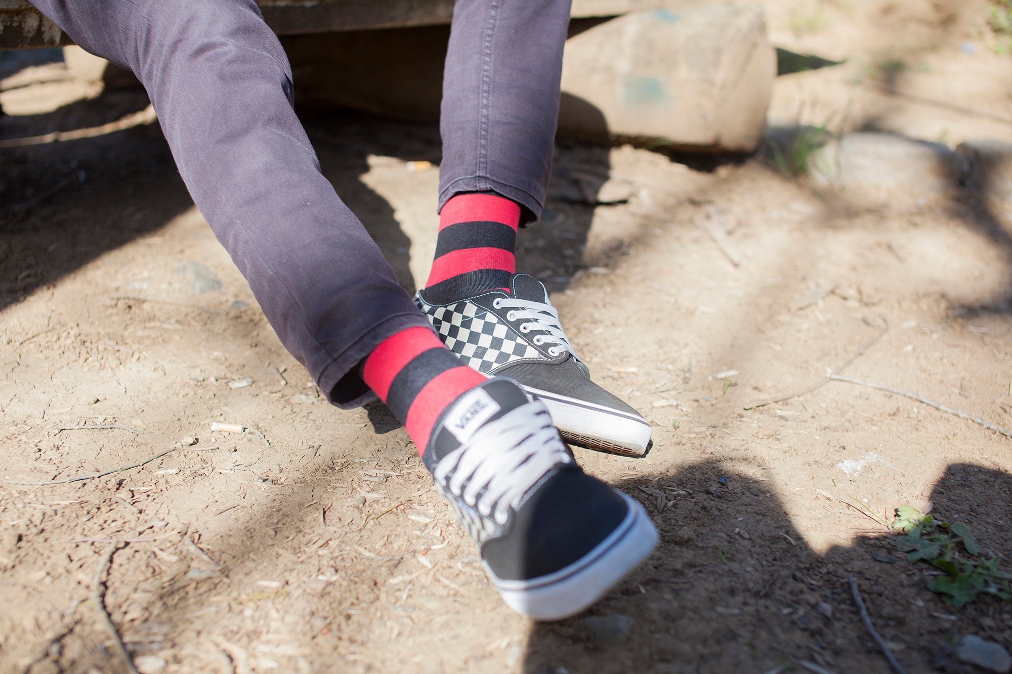 Men's Red Sky Stripe Socks