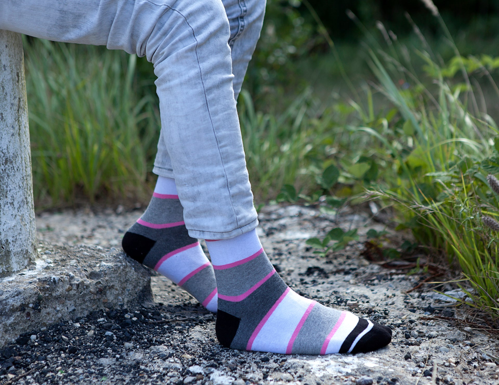 Men's Candy Cloud Stripe Socks
