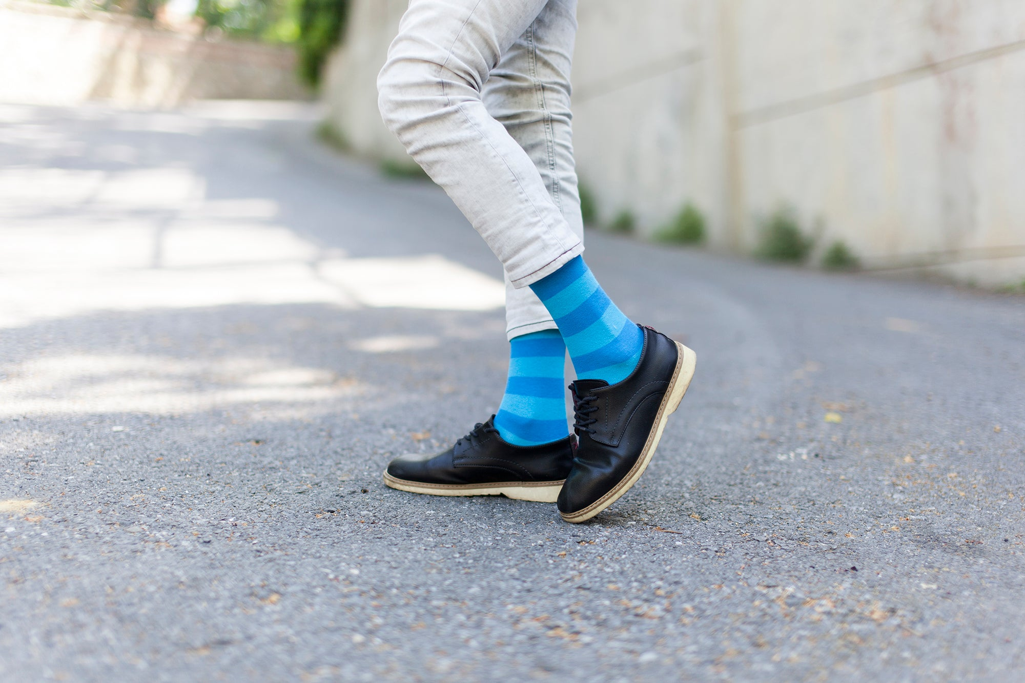 Men's Black Sky Stripe Socks