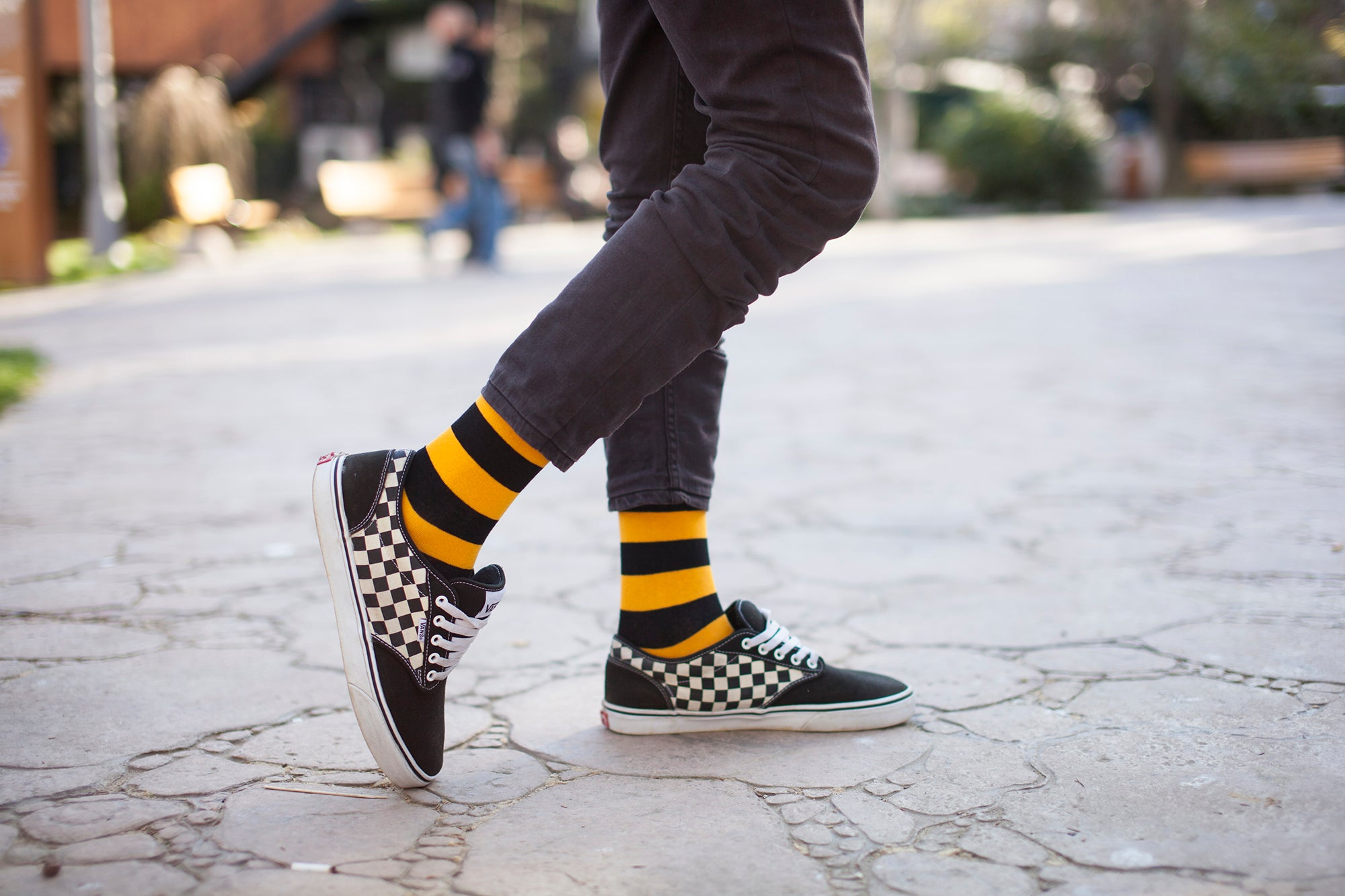 Black Flame Stripe Socks