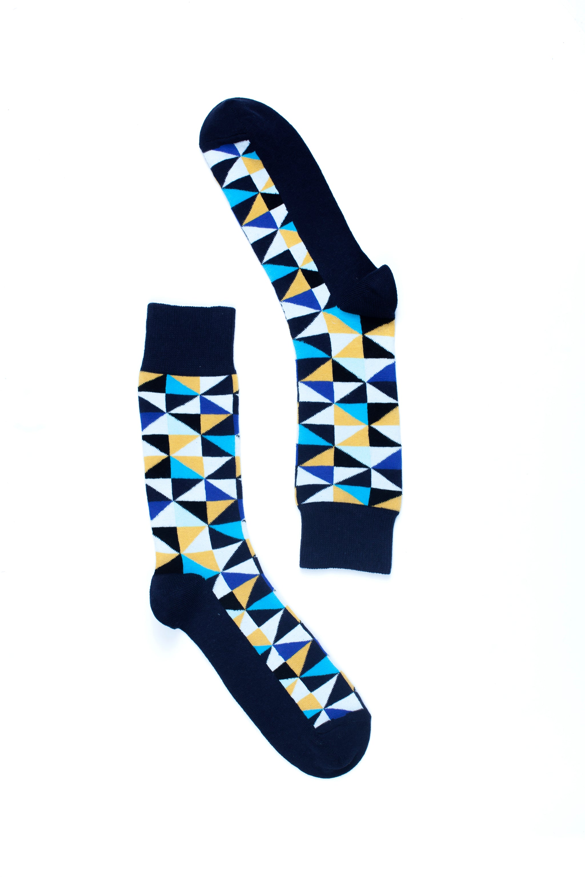 Navy Triangle Socks