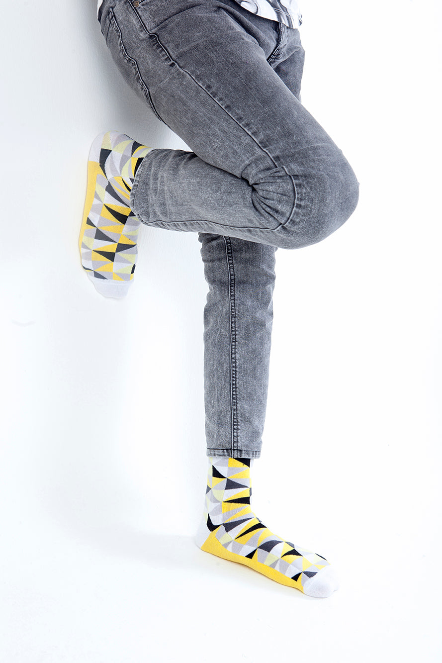 Canary Triangle Socks