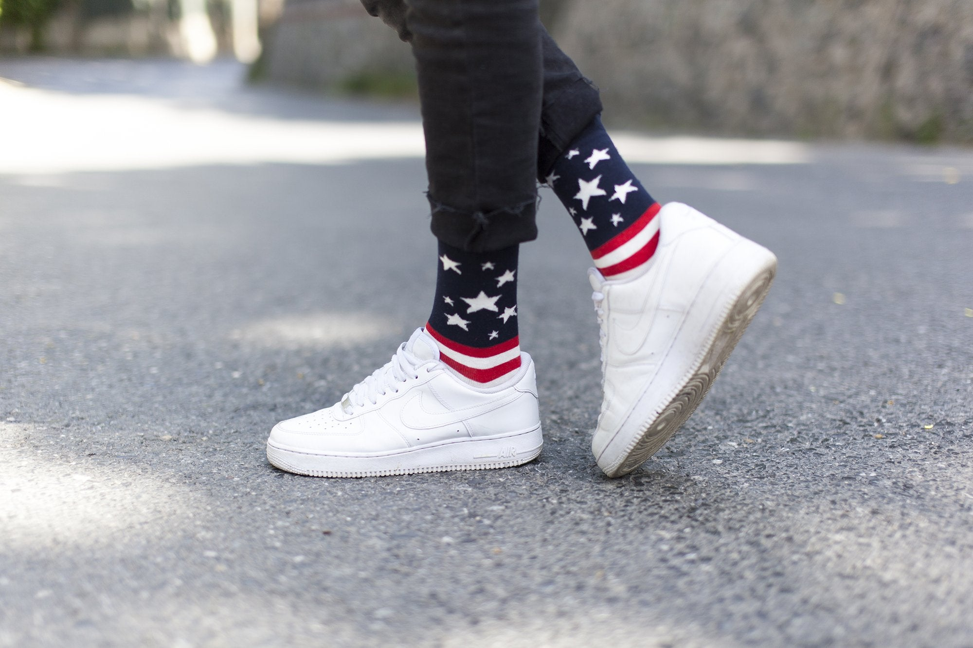 Men's Usa Flag Stars Socks