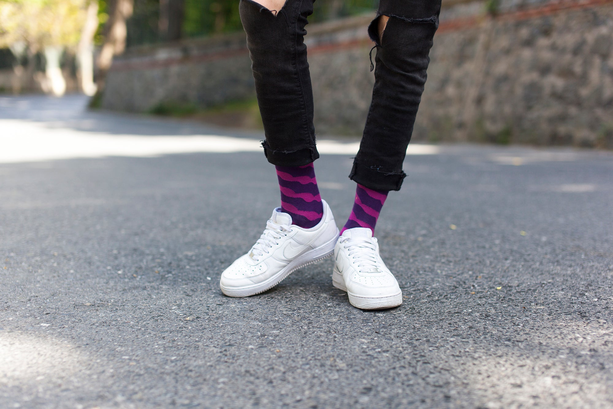 Men's Plum Wave Socks