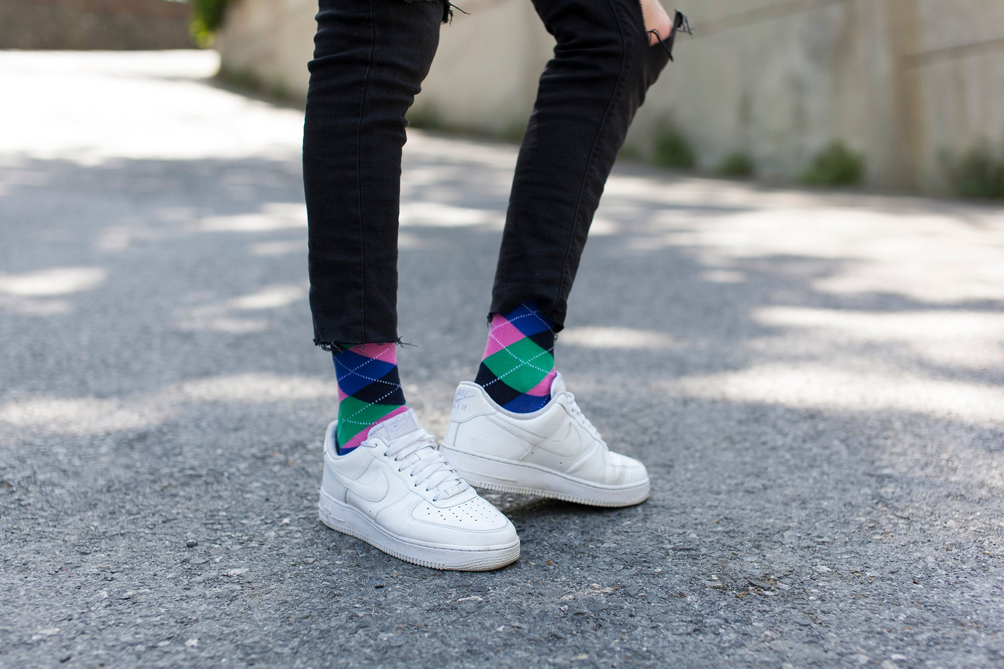 Men's Pastel Argyle Socks