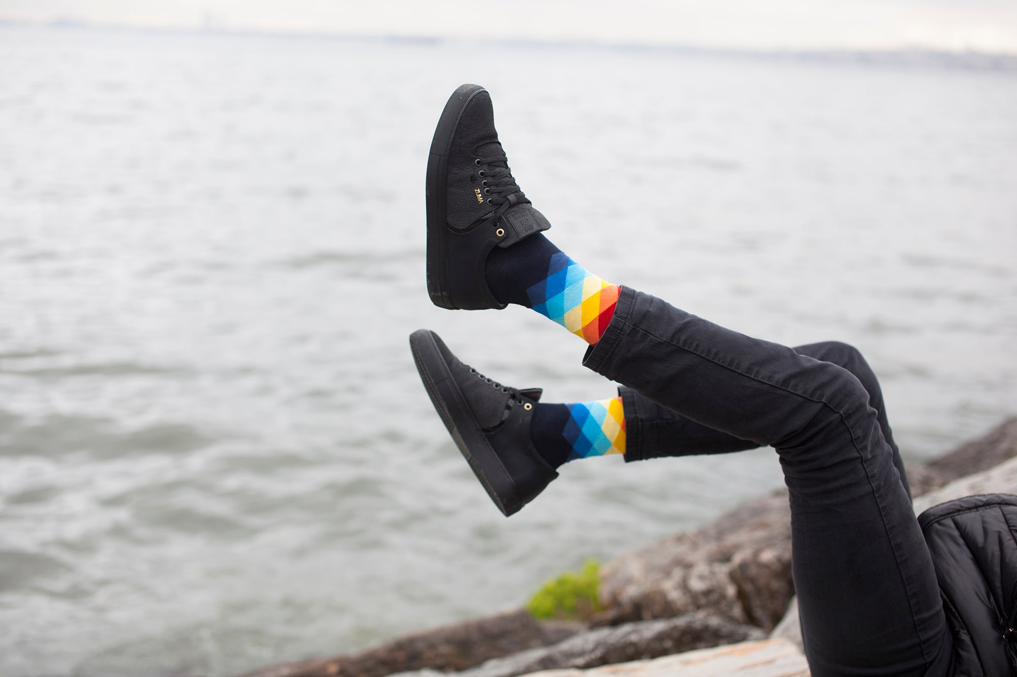 Men's Faded Diamonds Socks