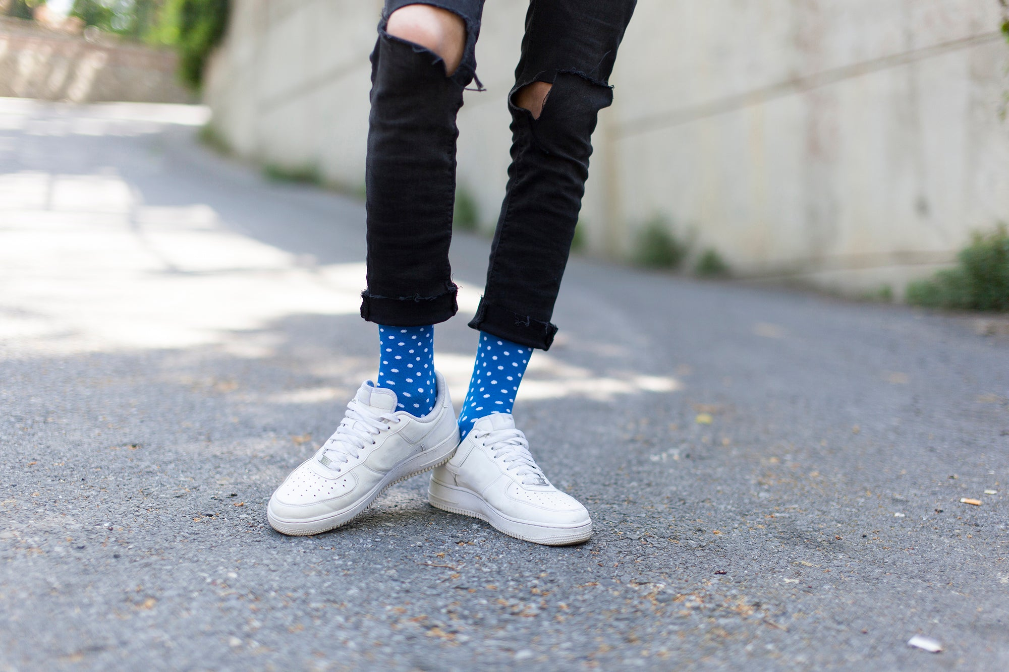 Men's Solid Dots Socks