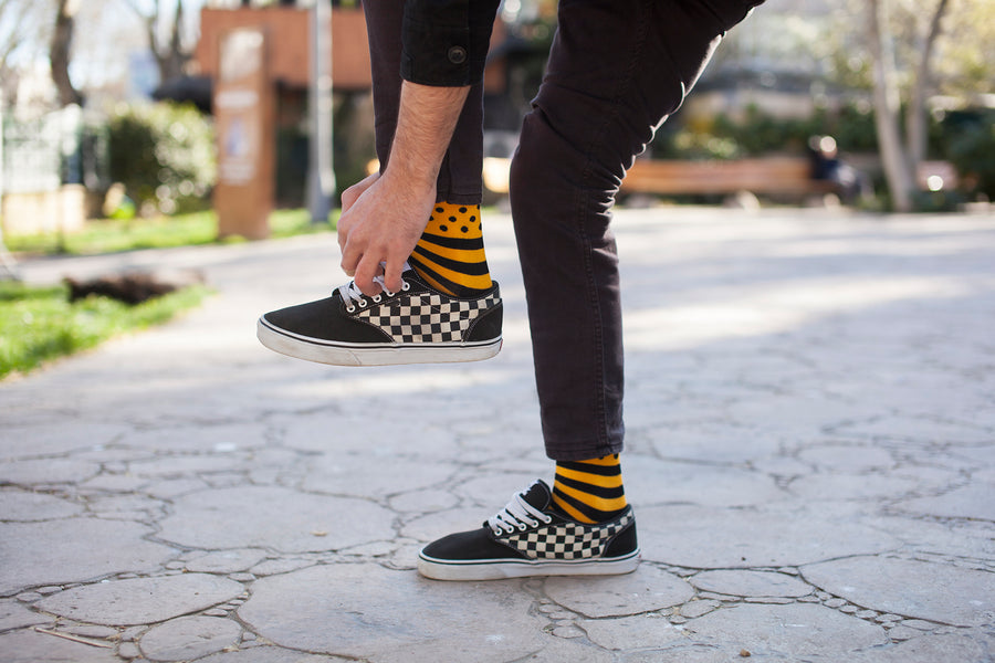 Men's Flame Dot Stripe Socks