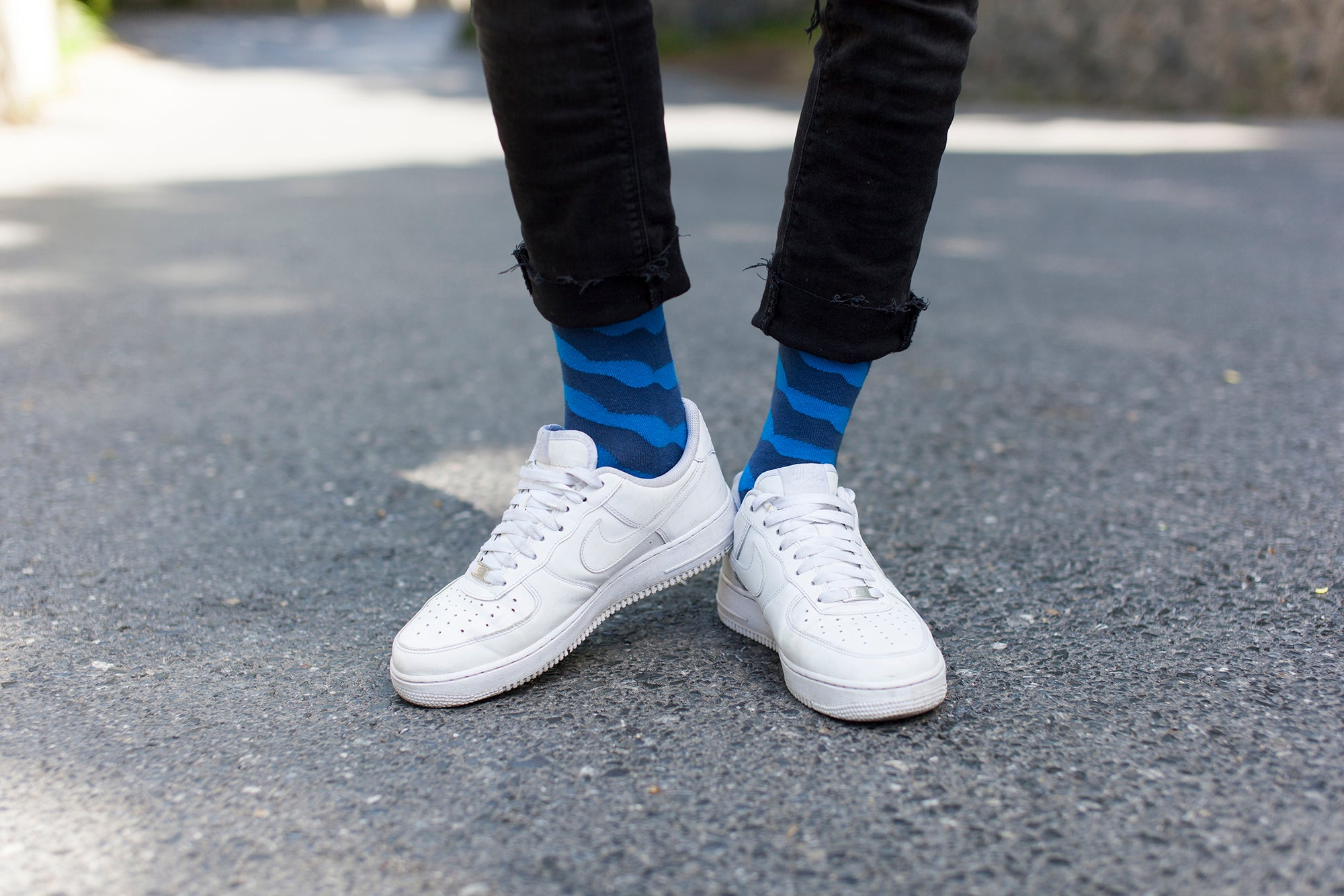Men's Solid Waves Socks