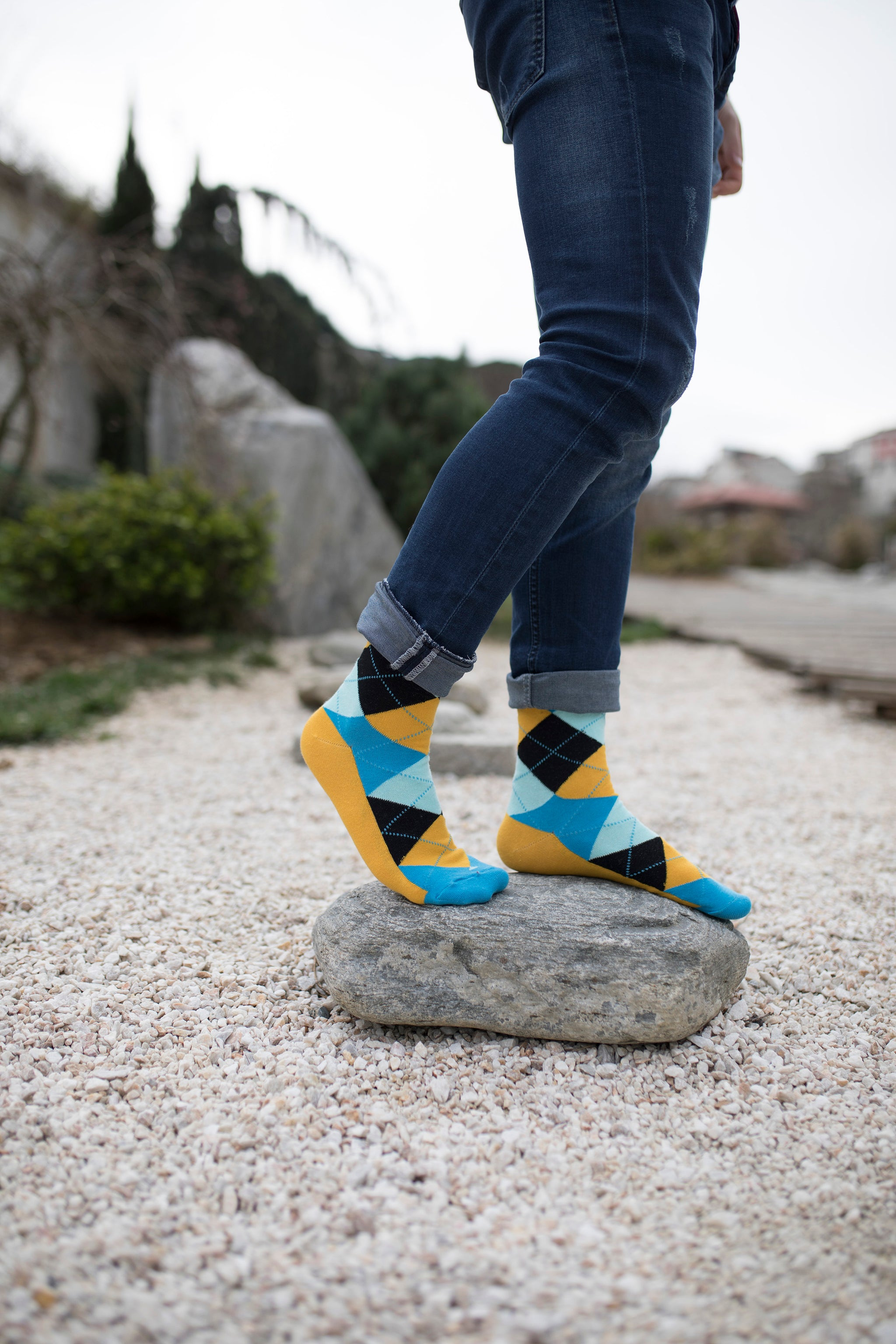 Men's Bluebird Argyle Socks