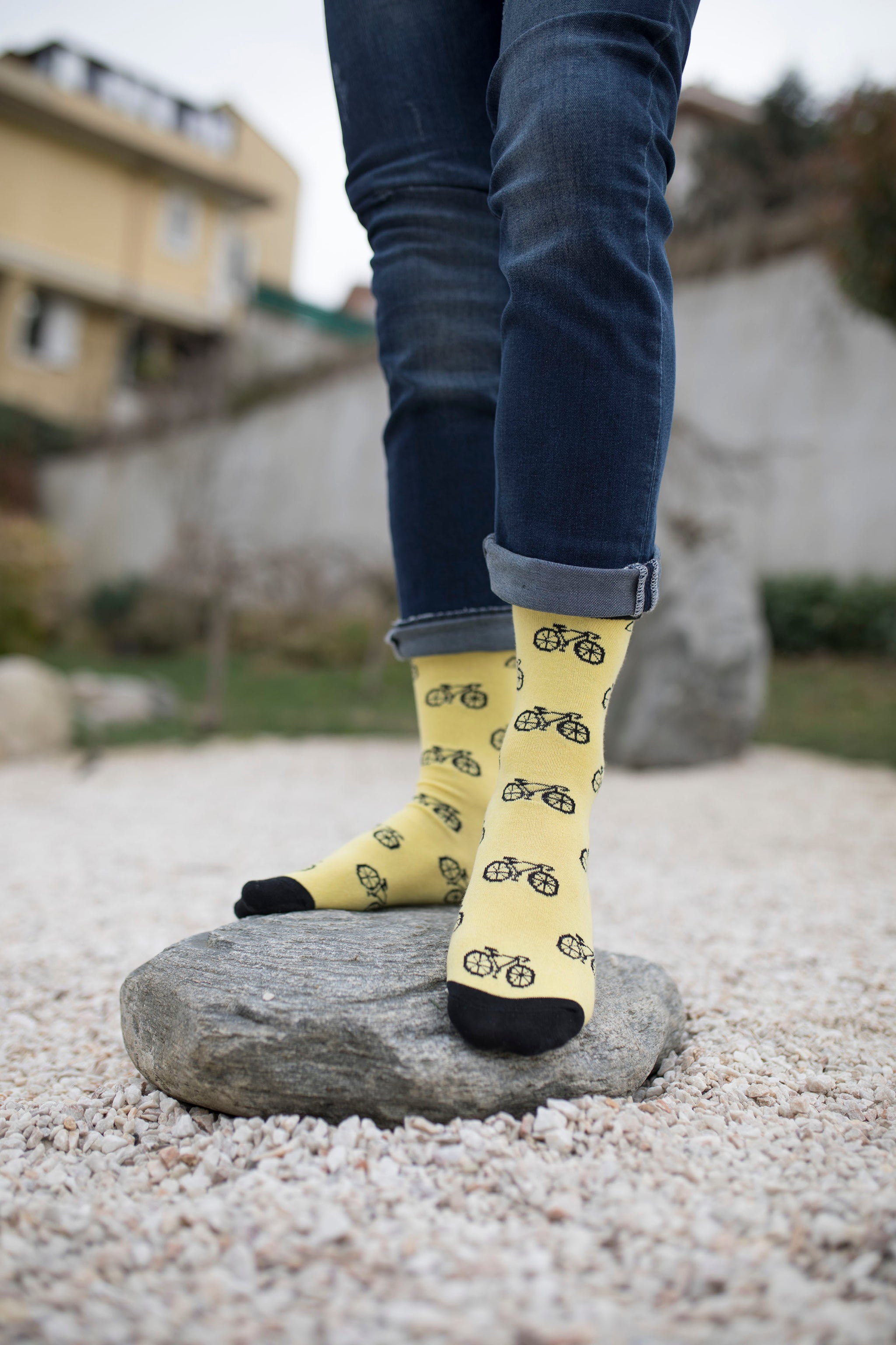 Men's Canary Bicycle Socks